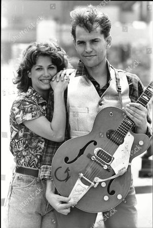 Theatrical Musical Be-bop-a-lu-la. Tim Whitnall Playing The Part Of Eddie Cochran And Catherine Roman As His Girlfriend.