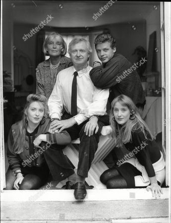 Film Director John Boorman With Wife Cristel Boorman Son Charlie Boorman And Daughters Daisy Boorman (l) And Katrine Boorman (r)