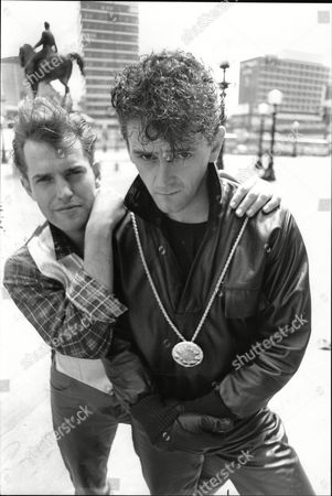 Tim Whitnall (l) Who Stars As Eddie Cochran With Andrew Schofield Who Plays The Part Of Gene Vincent In Musical 'be Bop A Lu La'