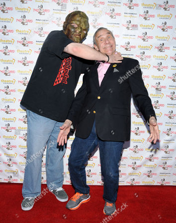 Stock Picture of The Toxic Avenger and Lloyd Kaufman