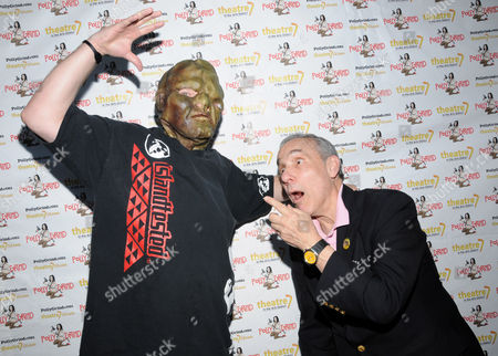 Stock Photo of The Toxic Avenger and Lloyd Kaufman
