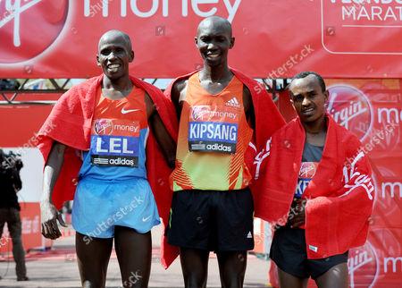 Martin Lel, Wilson Kipsang and Tsegaye Kebede