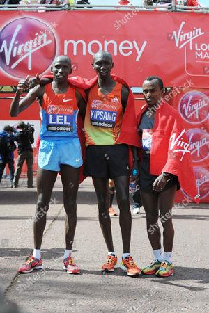 Martin Lel, Wilson Kipsang and Tsegaye Kebede - Elite Top Three