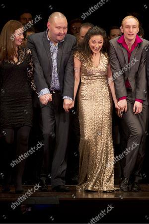 Amy Nuttall, Adam Pearce, Lara Pulver and Stuart Matthew Price