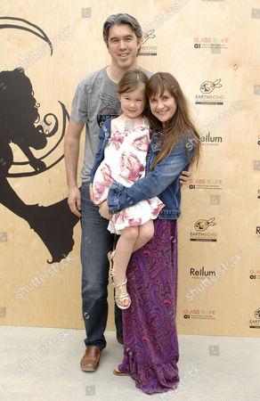 Kellie Martin, husband Keith Christian, daughter Margaret Heather Christian