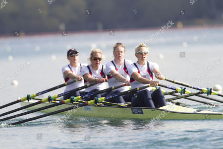 Women's Quadruple Scull left to right (bow)Beth Rodford, Melanie Wilson, Frances Houghton and (stroke)Vicky Thornley