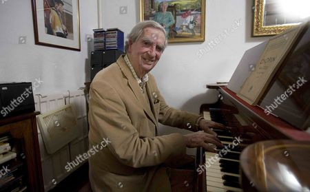 Editorial image of Lord Denis Healey at home in Alfriston, East Sussex, Britain - 23 Apr 2012