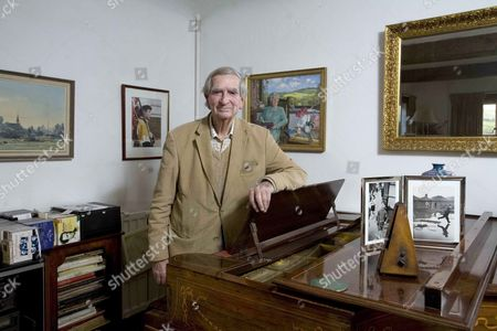 Editorial photo of Lord Denis Healey at home in Alfriston, East Sussex, Britain - 23 Apr 2012