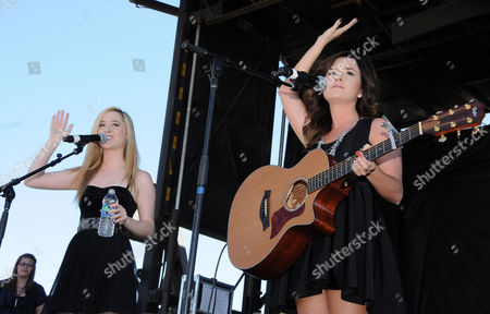 Stock Picture of Elizabeth Morgan Mace and Megan McKinley Mace aka Megan & Liz