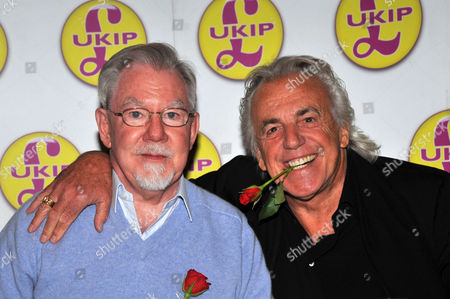 Peter Stringfellow with election candidate Richard Bridgeman, Earl of Bradford