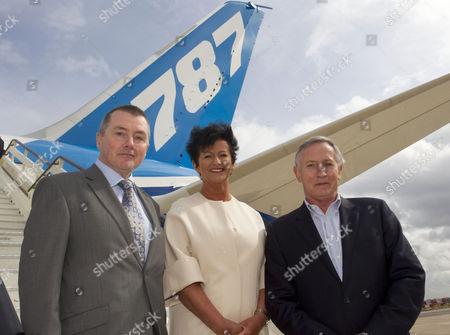 Willie Walsh, CEO of International Airlines Group, Chris Browne, MD of Thomson Airways, Steve Ridgway, CEO of Virgin Atlantic Airways