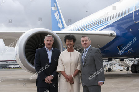 Editorial image of Boeing and suppliers welcome 787 Dream Tour to the United Kingdom, Heathrow Airport, London, Britain - 23 Apr 2012