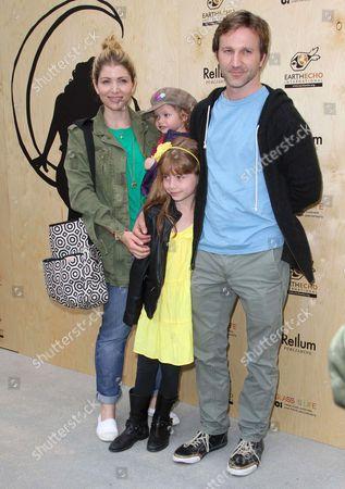 Stock Photo of Breckin Meyer, Deborah Kaplan, Daughters