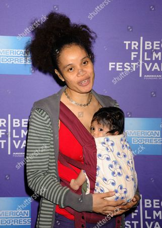 Stock Picture of Staceyann Chin and daughter Zuli