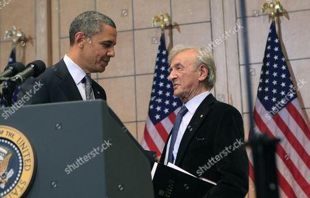 Barack Obama and Elie Wiesel