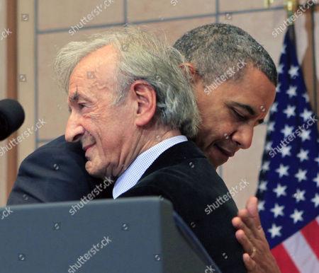 Elie Wiesel and Barack Obama