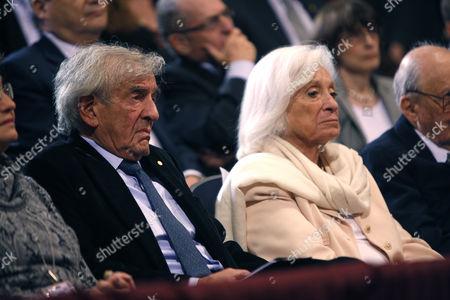 Elie Wiesel and wife Marion Erster Rose Wiesel