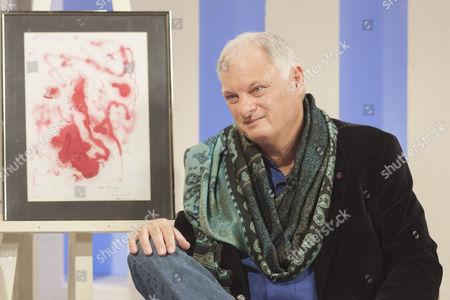Jeff Salmon with Marlon Brando's artwork - £5,000.
