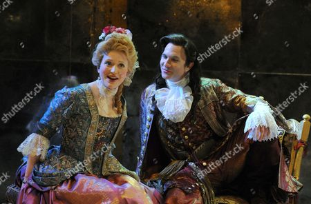 Claire Price (Mrs Millamant) and Jo Stone-Fewings (Mirabell)