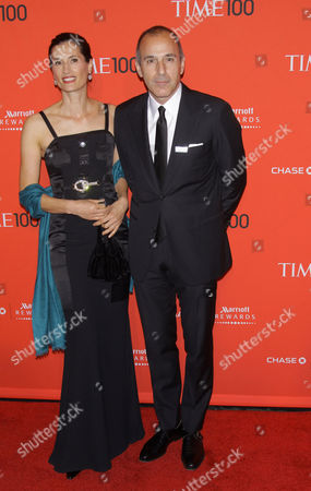 Annette Roque and Matt Lauer