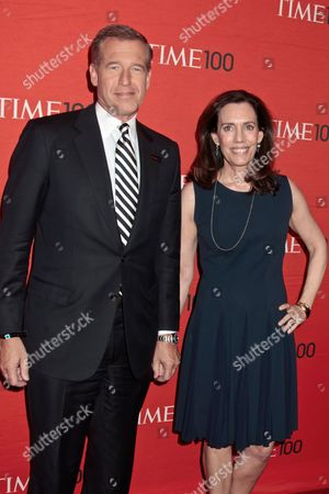 Brian Williams with wife Jane Stoddard Williams
