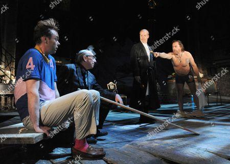 Bruce McKinnon as Aguecheek, Kevin McMonagle as Fester, Jonathan Slinger as Malvolio, Nicholas Day as Toby Belch