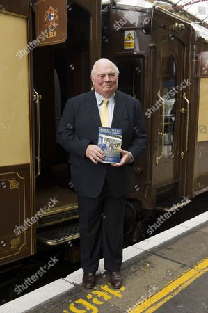 James Sherwood with his book