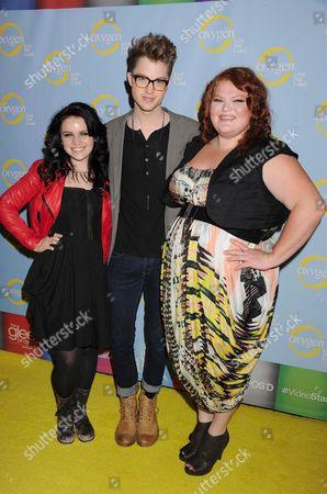 Lindsay Pearce, Cameron Mitchell and Hannah McIalwain