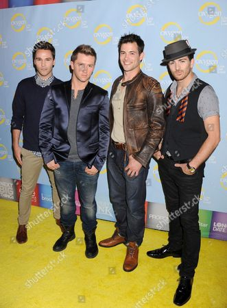 Nick Lazzarini, Travis Wall, Kyle Robinson and Teddy Forance