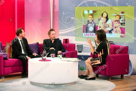 Barrie and Tony Drewitt-Barlow with Lorraine Kelly