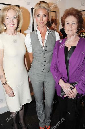 Stock Photo of Jill Kennington, Tamara Beckwith and Lady Elizabeth Anson