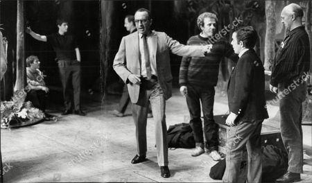 Burt Shevelove Kent Baker Ronnie Corbett George A Cooper At Rehearsals For The Musical 'twang'