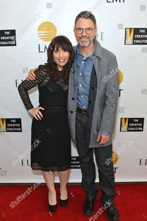 Creative Coalition CEO Robin Bronk and Creative Coalition President Tim Daly
