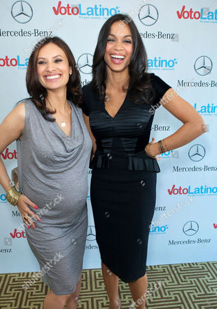 Stock Picture of Maria T. Kumar and Rosario Dawson