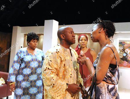 Pamela Nomvete as Mama, Lucian Msamati as Kayode, Jocelyn Jee Esien as Fola, Noma Dumezweni as Rita