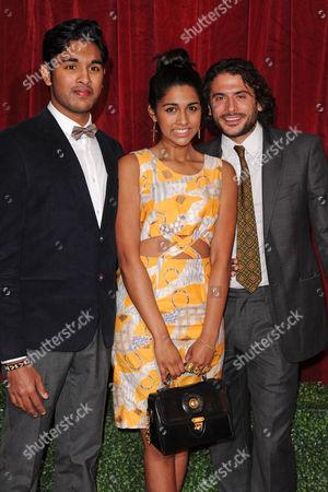 Stock Photo of Himesh Patel, Meryl Fernandes and Marc Elliott