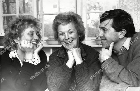 Simon Brett Writer Of Of Sit-com 'after Henry' With His Mother-in-law Halcyon Mclaren (centre) And His Wife Lucy Brett.