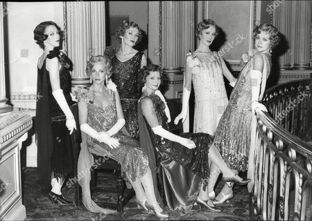 Cast Of Theatrical Musical 'the Mitford Girls' - (l-r) Patricia Hodge Colette Gleeson Lucy Fenwick Julia Sutton Patricia Michael And Gay Soper.