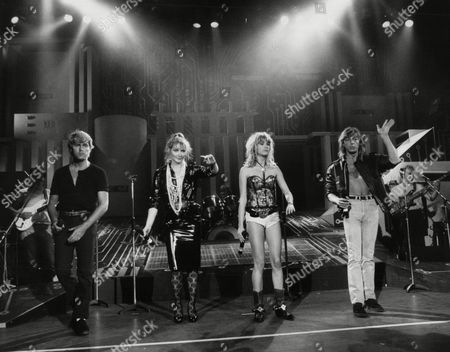 Stock Picture of Buck Fizz Left To Right Mike Nolan Cheryl Baker Shelly Preston And Bobby Gee