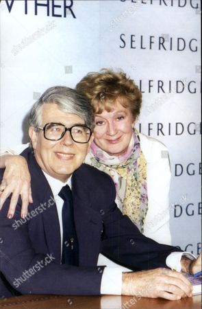 Editorial picture of Leslie Crowther (dead 9/96) And Wife Jean At Book Signing Event For His Autobiography 'the Bonus Of Laughter'.