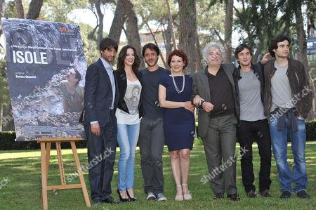 Cast and Crew - Ivan Franek, Asia Argento, Director Stefano Chiantini, Anna Ferruzzo, Giorgio Colangeli, Alessandro Tiberi and Paolo Briguglia