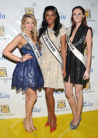 Stock Photo of Danielle Doty, Leila Lopes and Alyssa Campanella