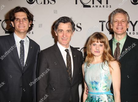 Alex Timbers, Roger Rees, Celia Keenan-Bolger and Rick Elice