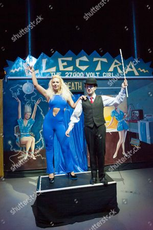 Professor Vanessa's Wondershow has its world premiere as part of Circusfest 2012 - Francesca MacDuff-Varley as Miss Electra and Tim Cockerill as Dr Sparks