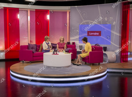 Sarah Scott and mother Joanie with Lorraine Kelly