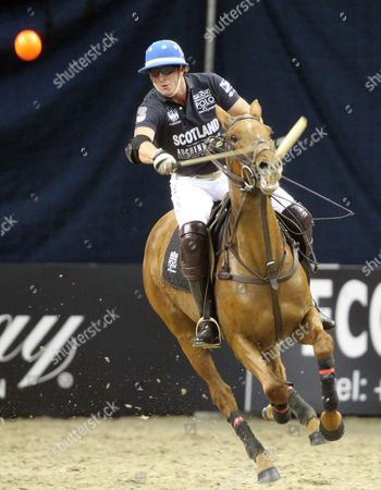 Picture by Paul Terry/Focus Images Ltd. 07545642257.21/03/12.Jamie Le Hardy of Scotland during the HPA Gaucho Polo event at the O2 arena, London.