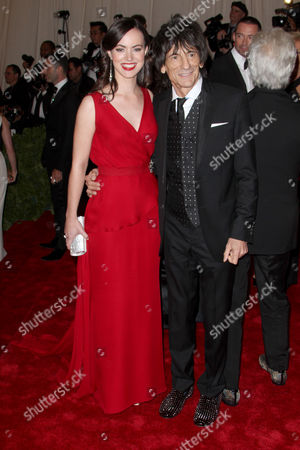 Stock Photo of Ronnie Wood and Nicola Sargent