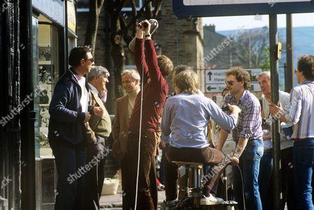 Stock Image of Behind the scenes. Ivan Beavis and John Thaw