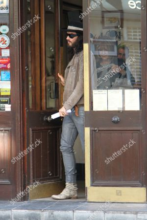 Editorial picture of Russell Brand out and about, London, Britain - 08 May 2012
