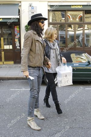 Stock Photo of Russell Brand and mother Barbara Elizabeth Brand
